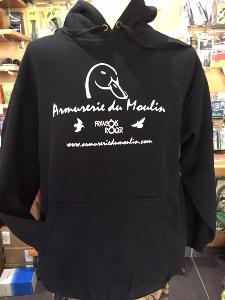 Sweat Capuche Armurerie du Moulin Duck  Black