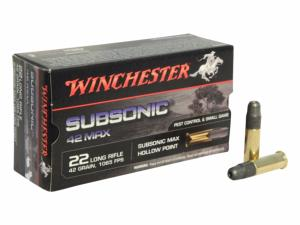 Winchester 22LR Subsonic 42max